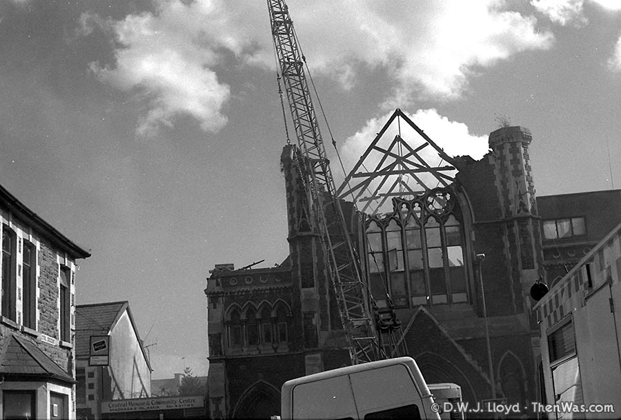 Broadway Methodist Chapel Demolition - Old BBC Building - 1989