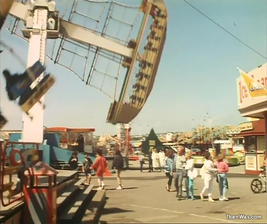Traum Boot and The Whacky Goldmine at Barry Island Fun Fair circa 1986 - Still from Bloody New Year.