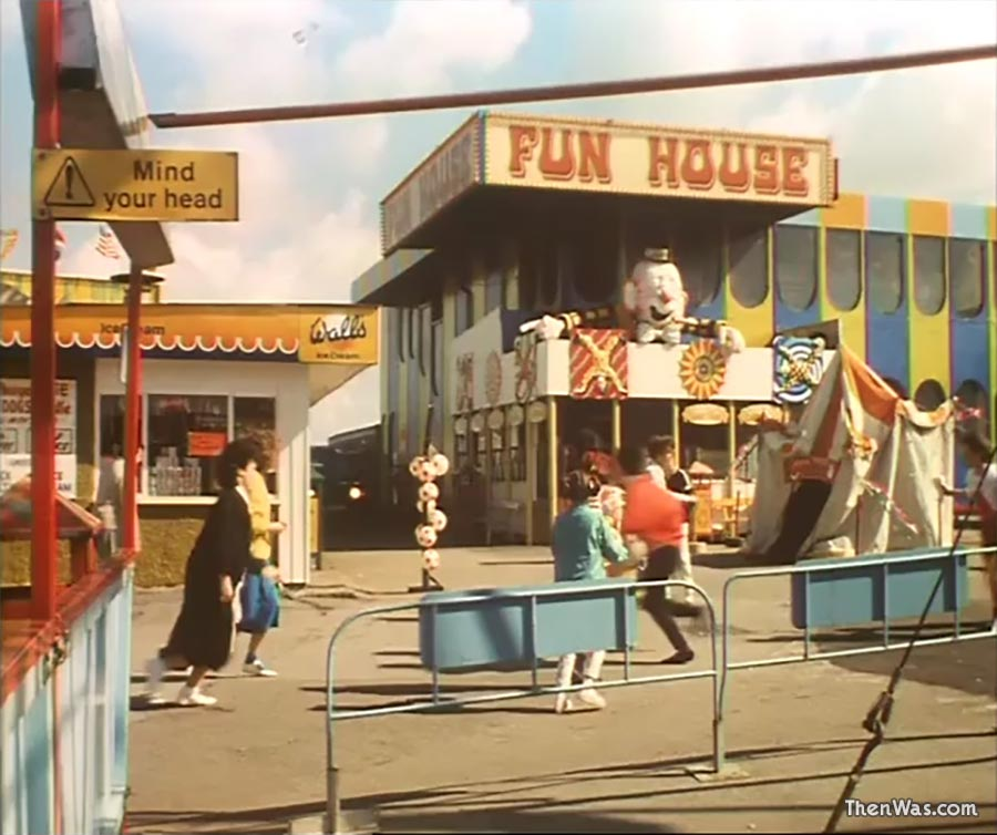 View of the Fun House at Barry Island Fun Fair circa 1986 - Still from Bloody New Year.