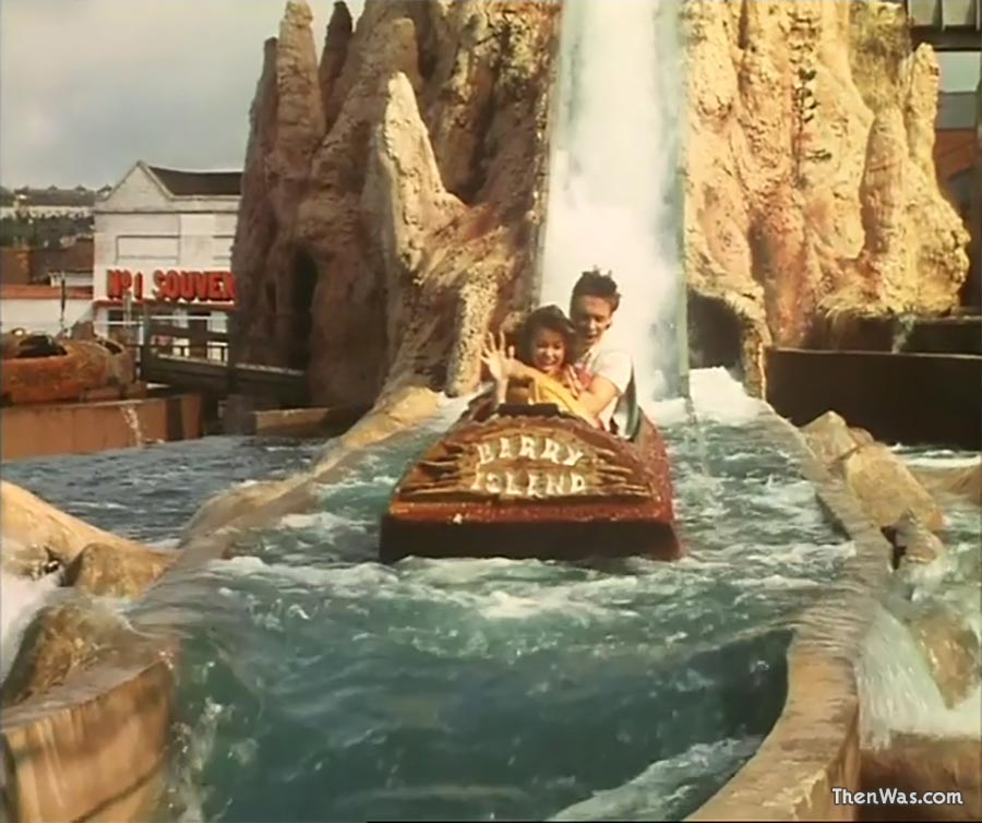 The Log Flume at Barry Island Fun Fair circa 1986 - Still from Bloody New Year.