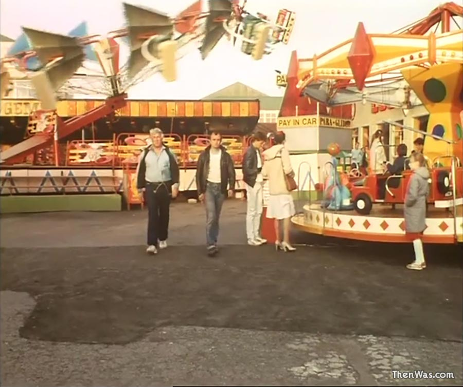 View of the Dodgems and Fun Fair at Barry Island circa 1986 - Still from Bloody New Year.
