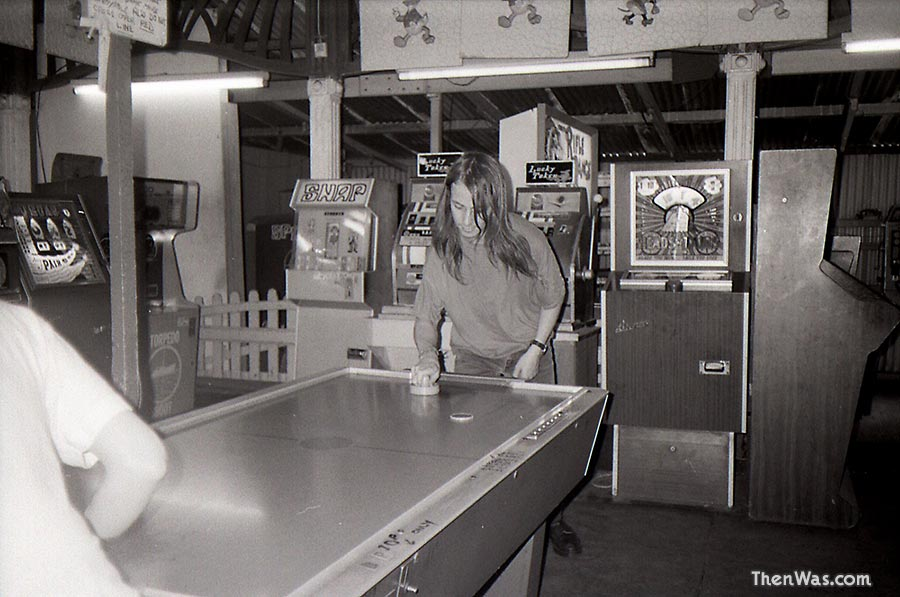 Inside the old shed arcade at Barry Island. Circa 1989 - Photographer Unknown.