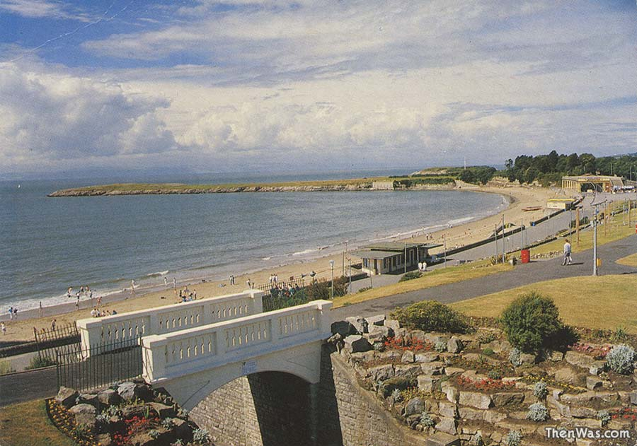 From Nell's Point looking over the beach - 1970s
