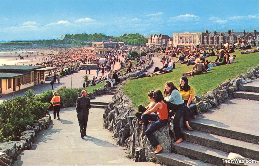 A view of the busy promenade 1970s
