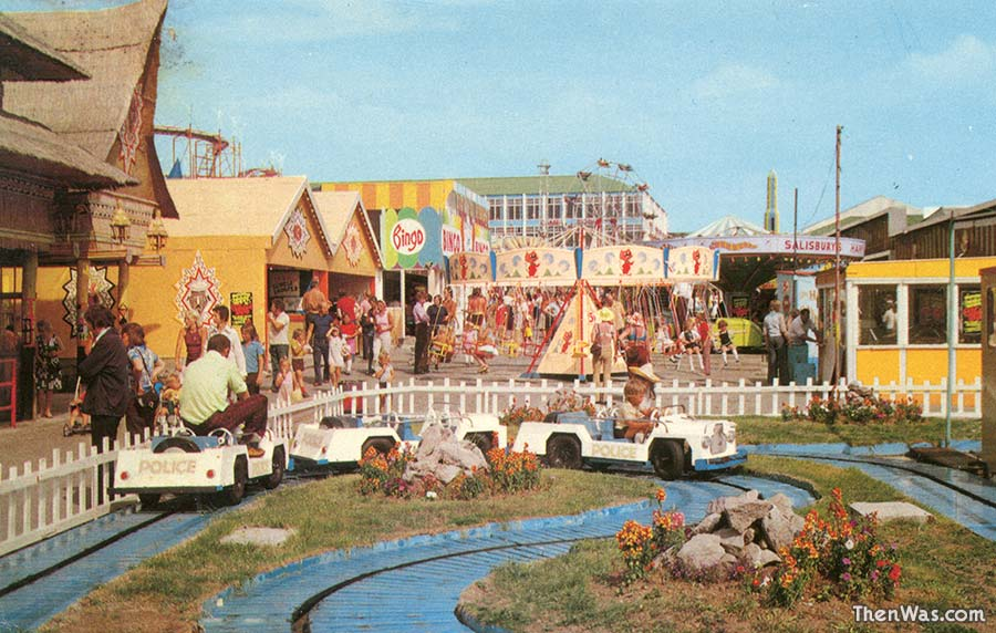 View of the fun fair in the late 1970s