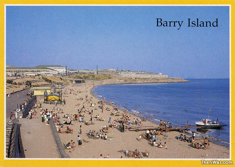 A view of the beach late 1980s