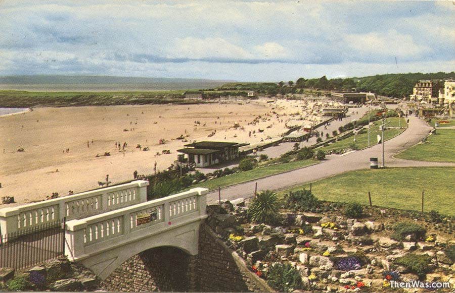 From Nell's Point looking over the beach - 1960s