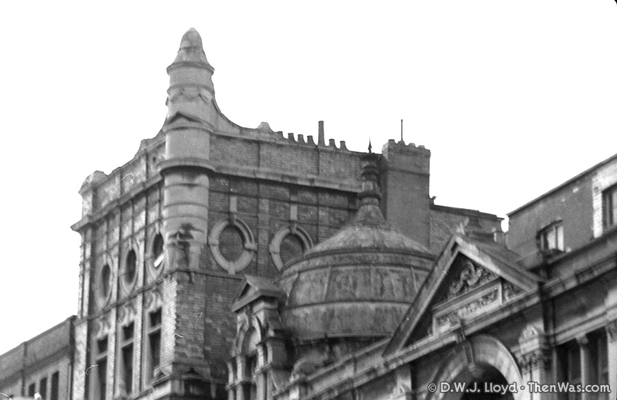 One of the domes above the old antique market at the end of St Mary Street, next to the Philharmonic