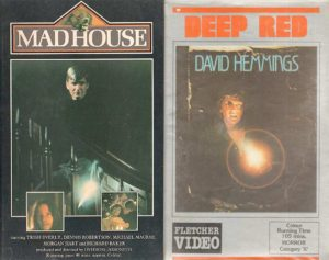 The Madhouse and Deep Red VHS covers