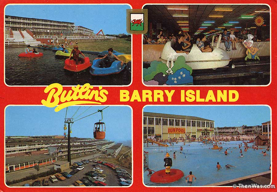 1980s multiview card with a great view from the chair lift