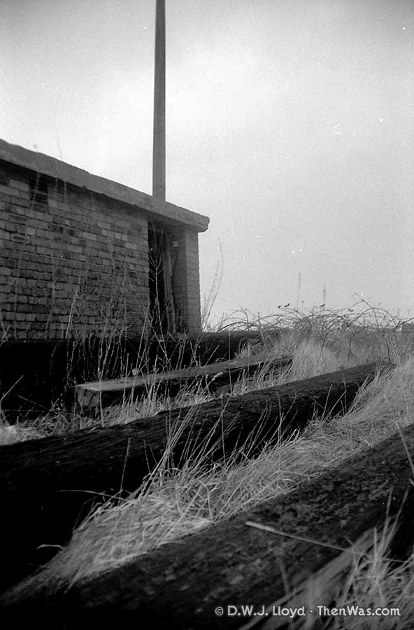 Hut and sleepers on the side of one of the Mount Stuart Graving Docks (circa 1989)