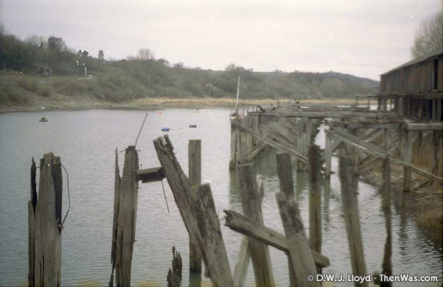 View of the tidal harbour uprights