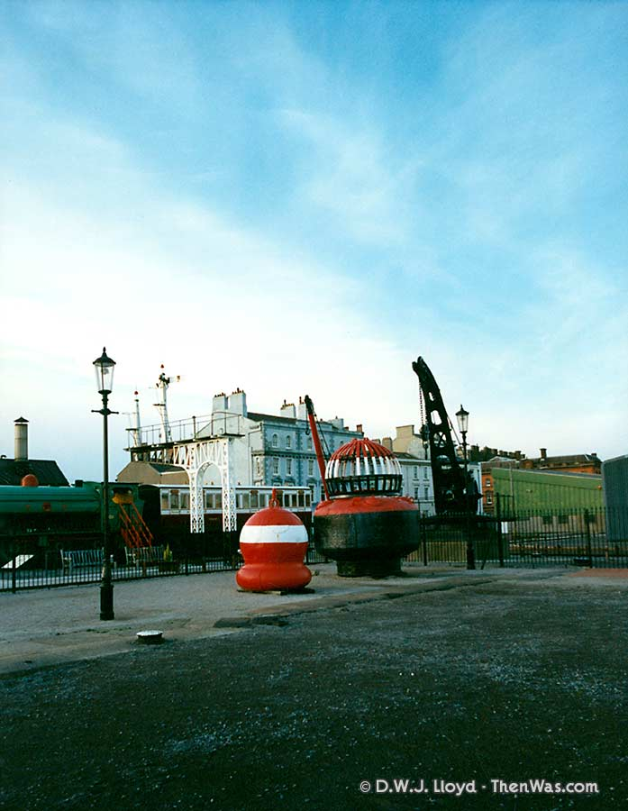 The yard at the back of the Welsh Maritime Museum (circa 1992/93)