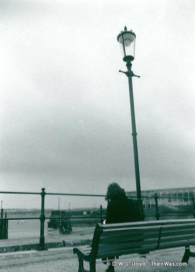 Benches outside the Maritime Museum, looking towards the Mount Stuart Graving Docks (circa 1989)