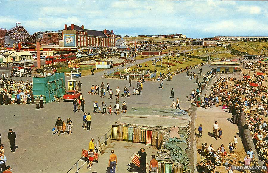 A view of the promenade from the early 1960s, pre-Butlins