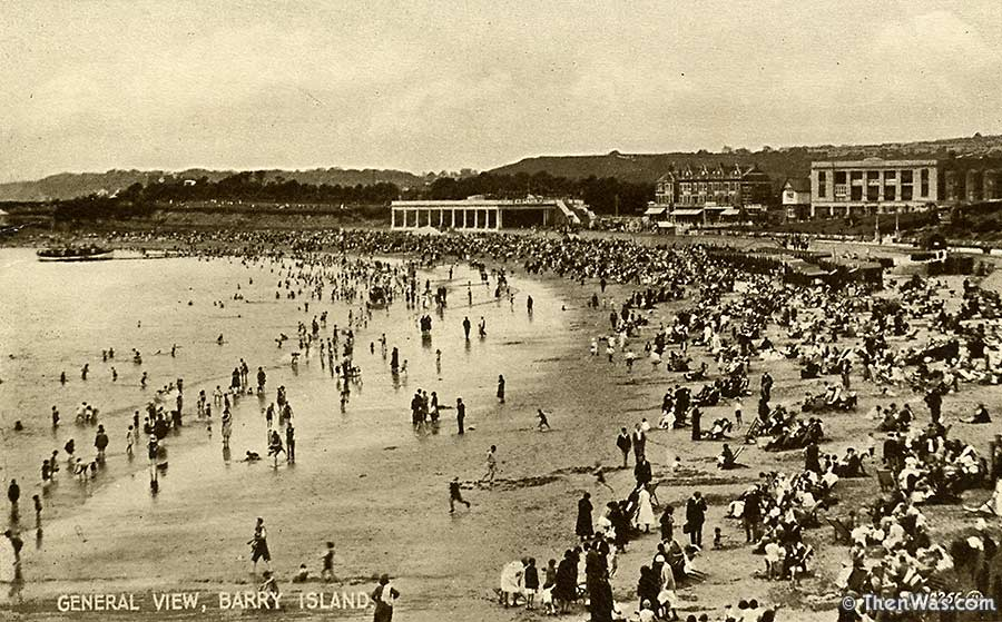 1930s (?) view of the beach and Western Shelter