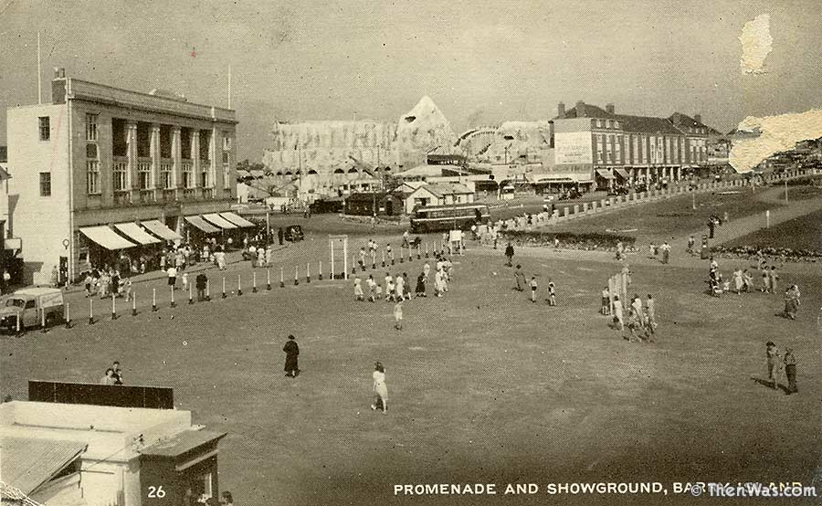 Old view of the prom and scenic railway, possible 1940s or 1950s