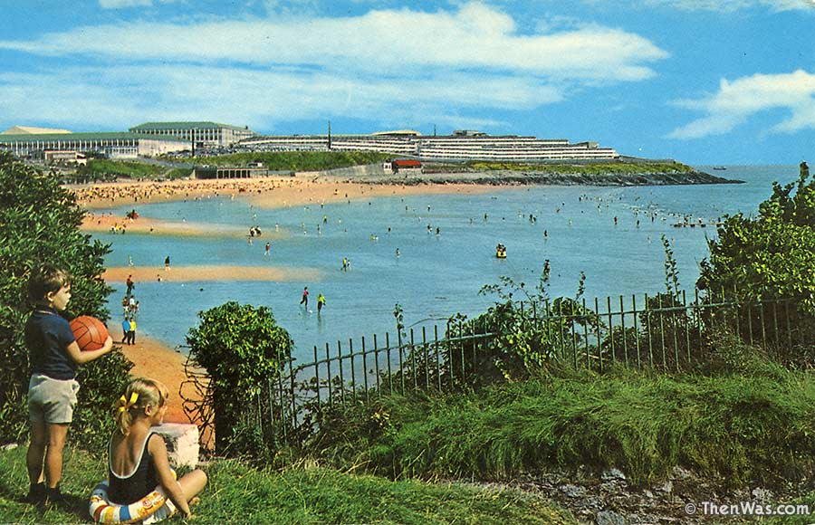 1970s view from up on the headland looking across to Butlins