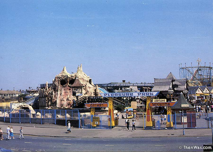 1980s view of the entrance to the funfair
