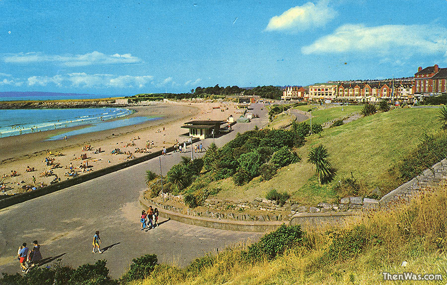 1970s View of the beach from Nell's Point end