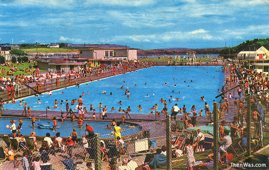 The Knap Pool in all its glory, 1970s