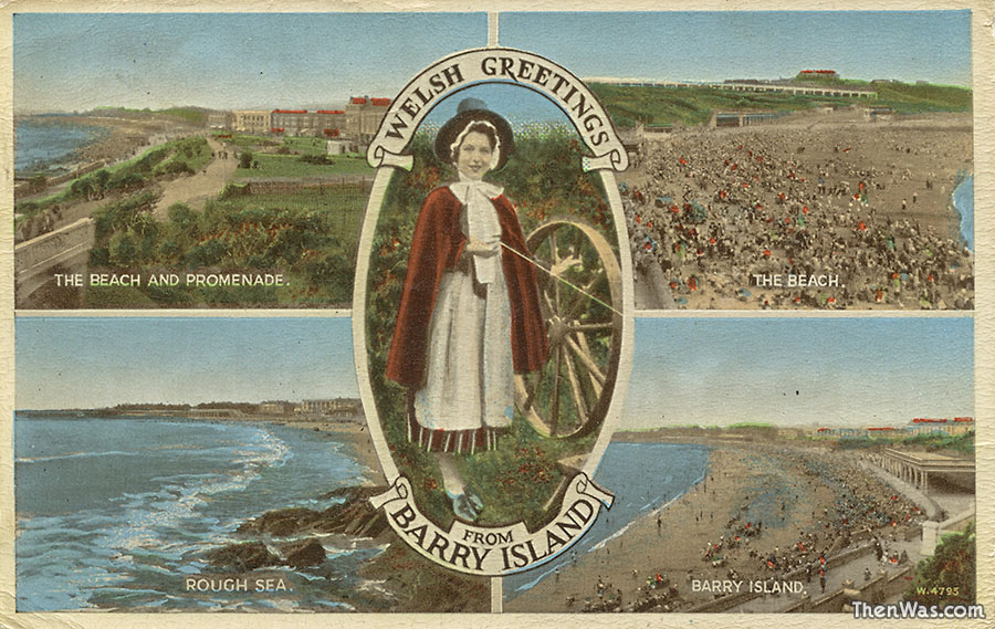 An old multiview card highlighting the Rough Sea!
