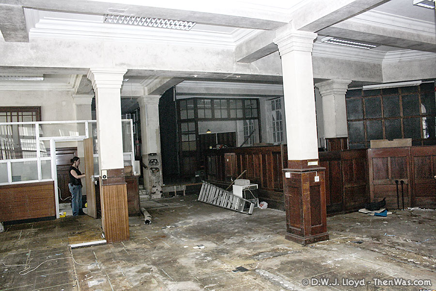 Interior of Barclays Bank area of the Coal Exchange