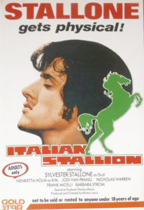 The UK cover of Italian Stallion