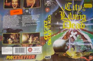 The heavily cut Pacesetter VHS of City Of The Living Dead
