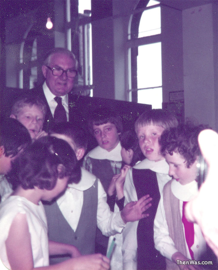 James Callaghan and a number of us junior pupils in Mr Baxter's room.