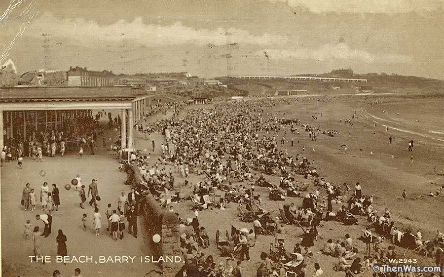 1950s View Of The Beach and Promenade At Barry Island (Photographer Unknown)