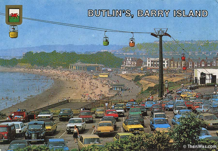 Late 1970s View From Nell's Point Of The Cable Car And Beach (Photographer Unknown)