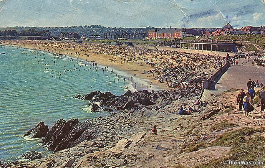 1960s View Of A Busy Beach From Nell's Point At Barry Island (Photographer Unknown)