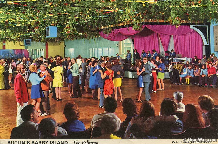 Barry Island Butlins Ballroom Postcard From The 1960s (Photographer D. Noble)