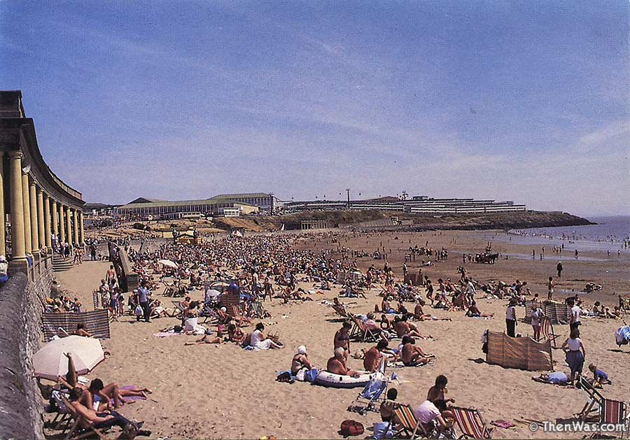 A Crowded Beach View Circa Late 1970s (Photographer Unknown)