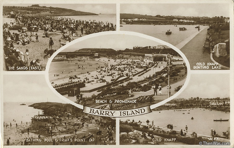 Barry Island Multi view postcard supplied by June Ritchie (Photographer Unknown)