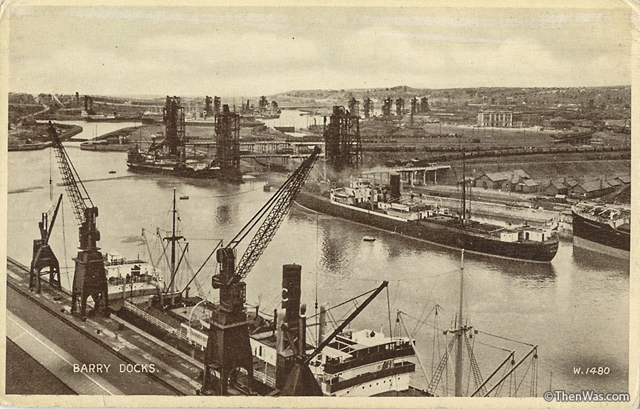 Barry Docks postcard supplied by June Ritchie (Photographer Unknown)